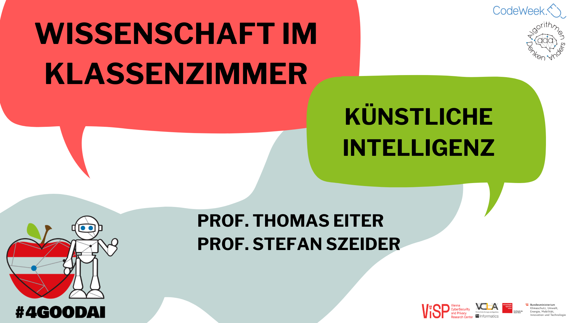 Aufzeichnung: Wissenschaft im Klassenzimmer mit harten Fakten über die künstliche Intelligenz